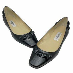 JIMMY CHOO 'Watson' Flat Black Leather